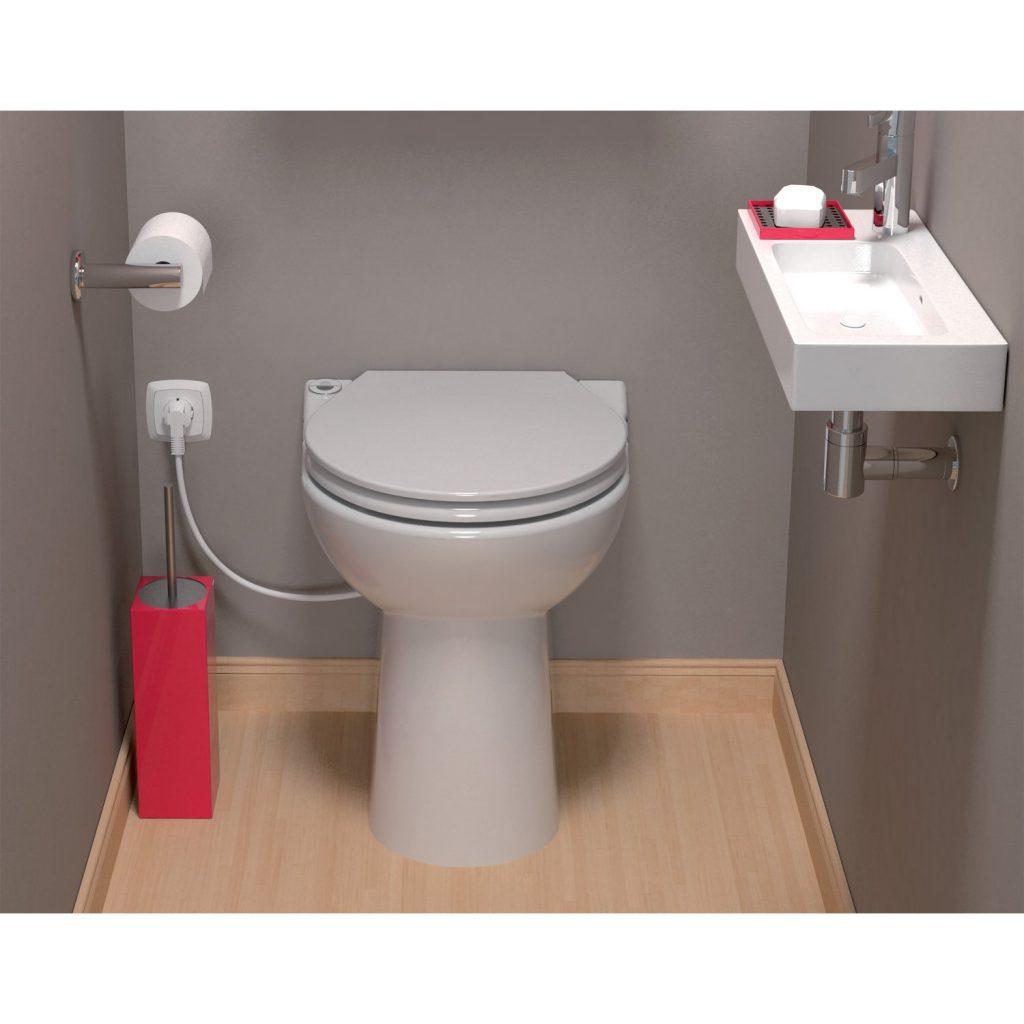 Inodoro triturador sanitrit sanicompact c43